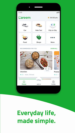 Careem - Rides, Food, Shops, Delivery & Payments screenshot 1