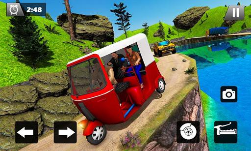 Tuk Tuk Driver Offroad Drive: Transport Passenger screenshot 3