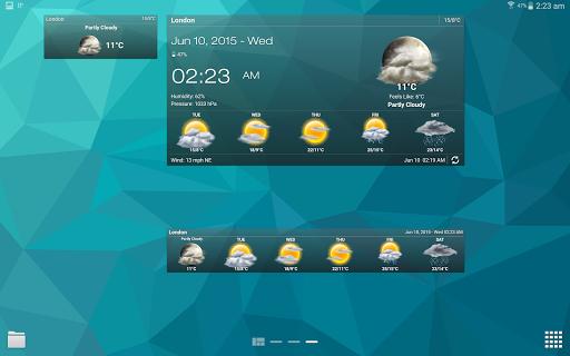 Hava ve saat Widget için Android (Hava durumu) screenshot 12