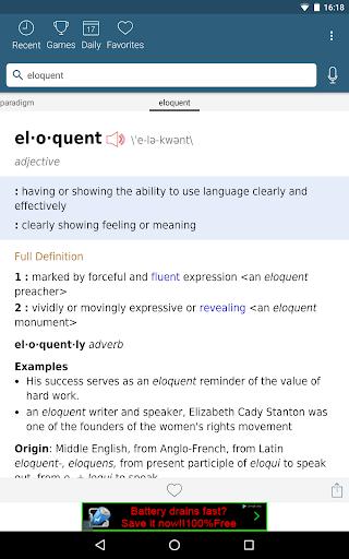 Dictionary - Merriam-Webster स्क्रीनशॉट 10