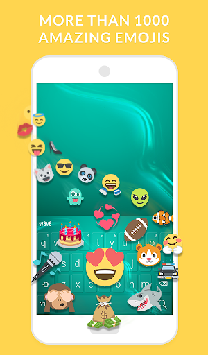 Wave Keyboard Background - Animations, Emojis, GIF screenshot 3