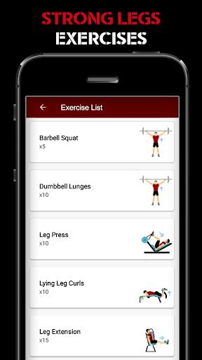 Leg Workout for Men - Thigh, Muscle Fitness 30 Day 6 تصوير الشاشة