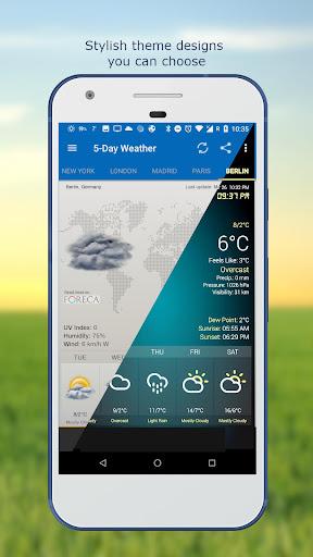 Hava ve saat Widget için Android (Hava durumu) screenshot 4