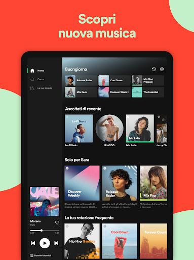 Spotify: musica e podcast screenshot 10
