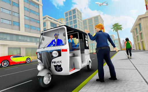 Police Tuk Tuk Auto Rickshaw Driving Game 2021 screenshot 8