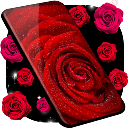 Red Rose Live Wallpaper 🌹 Flowers 4K Wallpapers icon