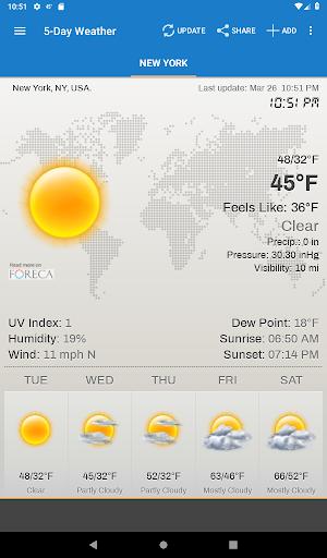 Hava ve saat Widget için Android (Hava durumu) screenshot 9