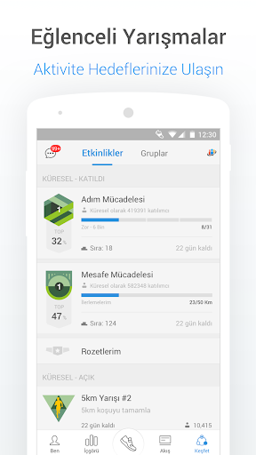 Pedometre - Adım Sayıcı, Kalori ve Kilo Takipçisi screenshot 5