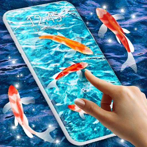 HD Koi Live Pond 3D 🐟 Fish 4K Live Wallpaper Free