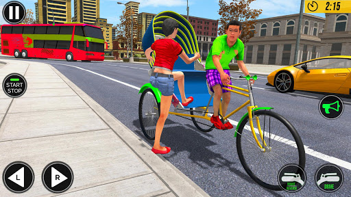 Bicycle Tuk Tuk Auto Rickshaw : Driving Games screenshot 1