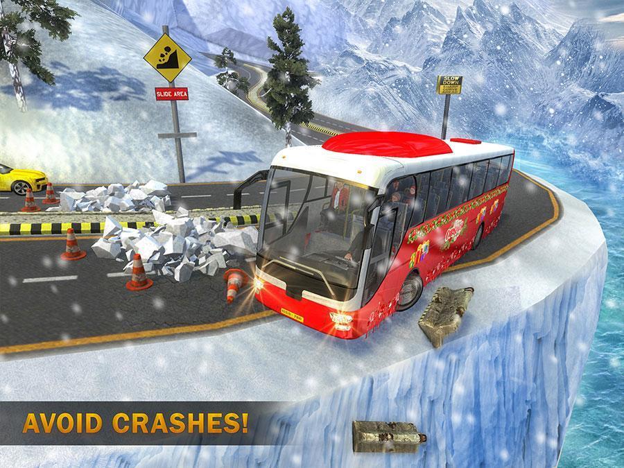 Uphill Bus Drive : Christmas Bus Simulator screenshot 11