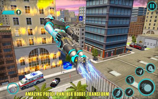 Flying Panther Robot Hero: Robot Black Hero Games screenshot 1
