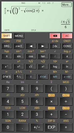 HiPER Scientific Calculator скриншот 5