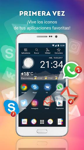 Lanzador con Iconos en Vivo para Android screenshot 1