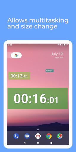 Floating Stopwatch, timer multitasking gratuito screenshot 6