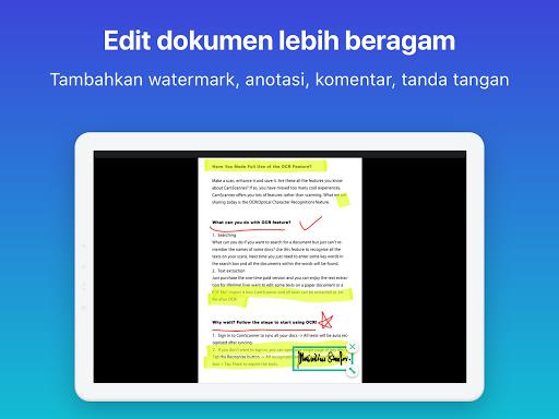 CamScanner: scan ke PDF, Word, Excel, Foto, gratis screenshot 11