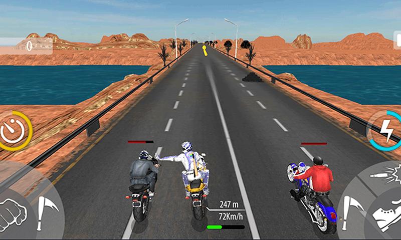 Bike Attack Race Highway Tricky Stunt Rider скриншот 4