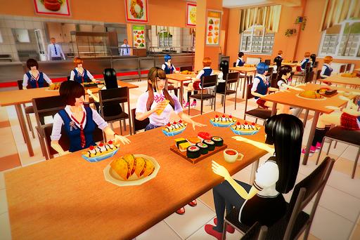 real High School Girl Simulator games screenshot 1