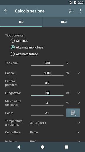 Calcoli Elettrici screenshot 2