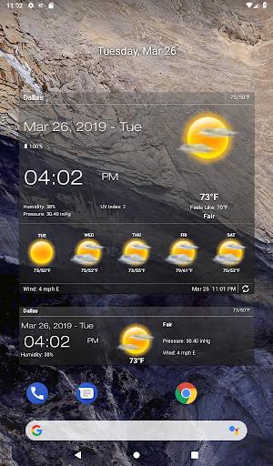 Hava ve saat Widget için Android (Hava durumu) screenshot 8