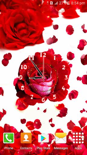 Rose Flower Clock screenshot 5