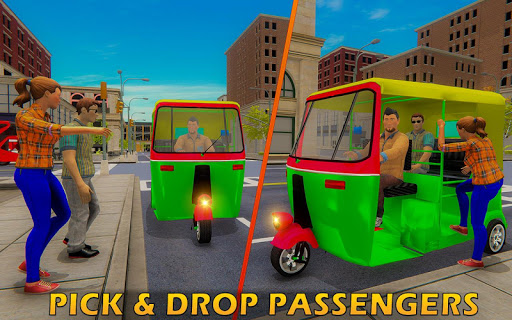 Tuk Tuk Driver Offroad Drive: Transport Passenger screenshot 14