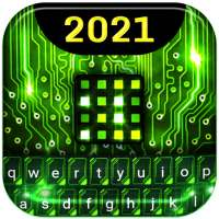 Green Light Cyber Circuit Wallpaper and Keyboard on 9Apps
