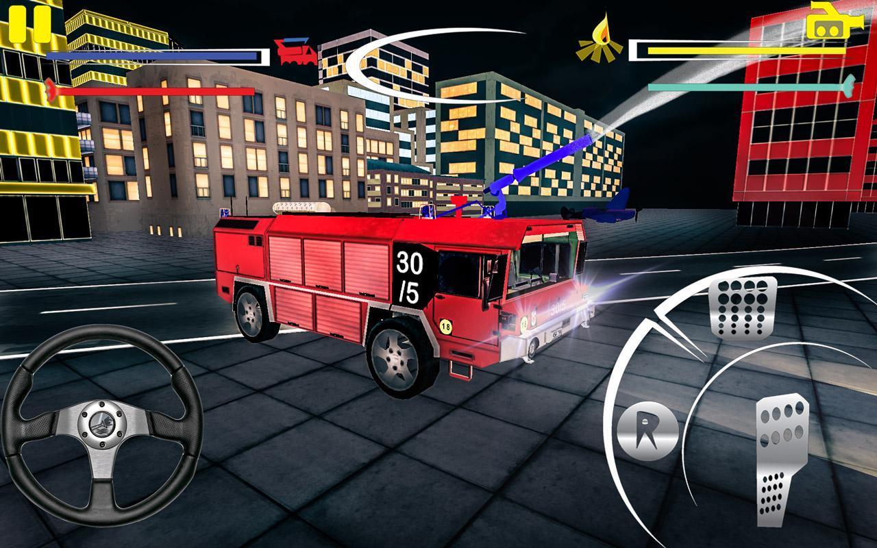 Firefighter-Fire Brigade Truck скриншот 4