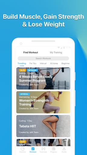 JEFIT Workout Tracker, Weight Lifting, Gym Log App screenshot 4