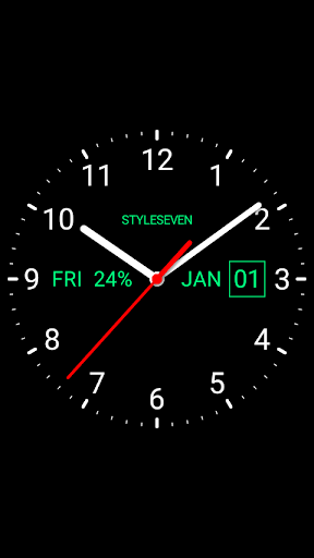 Analog Clock Live Wallpaper-7 screenshot 1