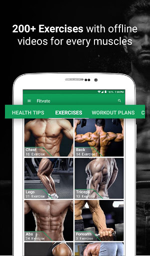 Fitvate - Home & Gym Workout Trainer Fitness Plans screenshot 9