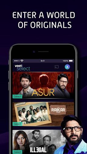 Voot Select Originals, Bigg Boss, MTV, Colors TV screenshot 1