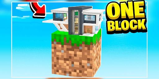 ONE BLOCK CHALLENGE FOR MCPE screenshot 1