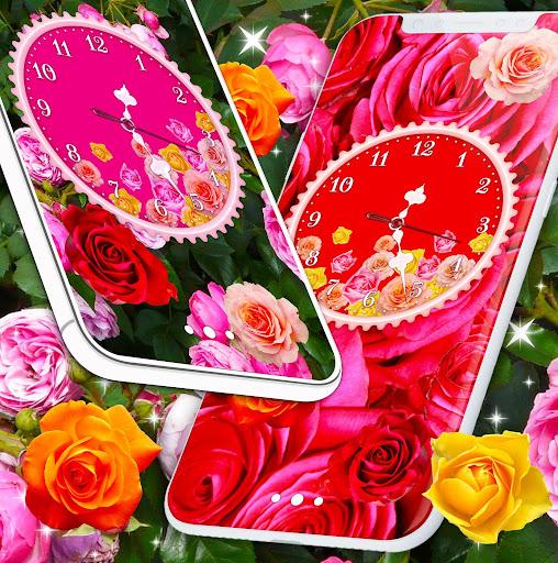 Rose Clock Live Wallpaper 🌹 4K Wallpapers Themes screenshot 6