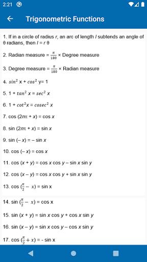Math Formulas - Class 6 to 12 screenshot 6