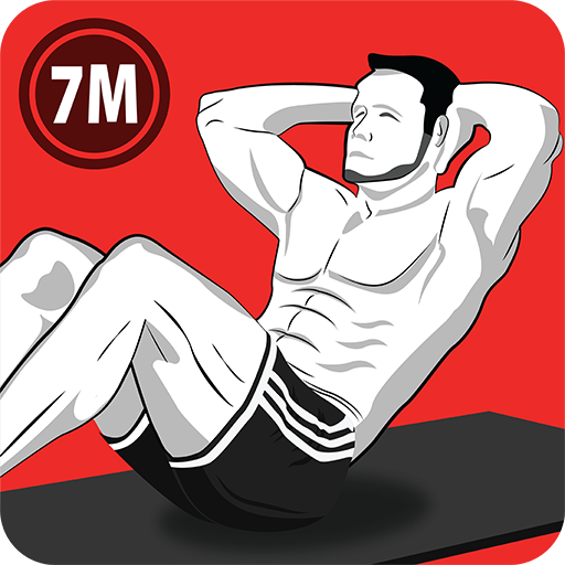 7 Minute Abs Workout - Home Workout for Men أيقونة
