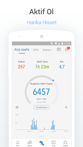 Pedometre - Adım Sayıcı, Kalori ve Kilo Takipçisi screenshot 1
