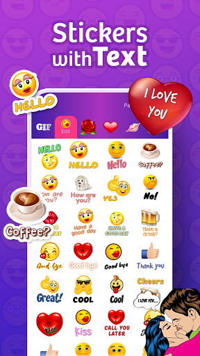 WhatsLov: love stickers, GIF & emoji WAStickerApps स्क्रीनशॉट 1