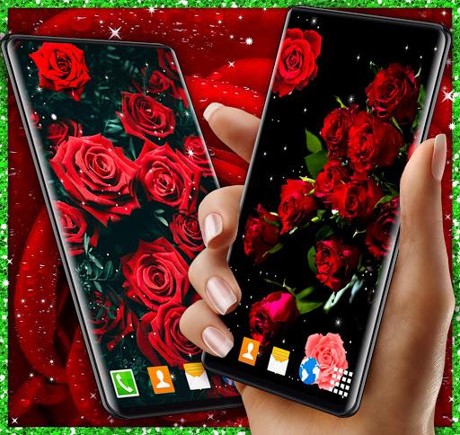Red Rose Live Wallpaper 🌹 Flowers 4K Wallpapers screenshot 2