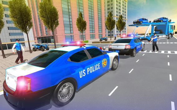 Us Police Car Transporter Truck Driving Simulator screenshot 2