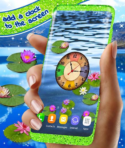 Water Lily Live Wallpaper 🌺 Flowers Wallpapers 1 تصوير الشاشة