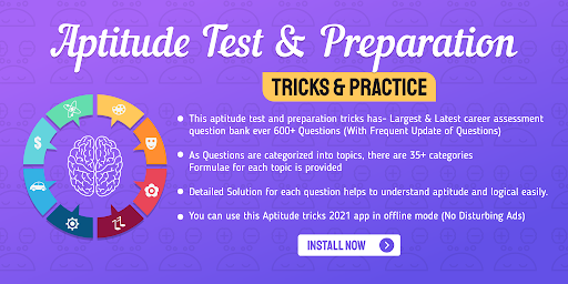 Aptitude Test and Preparation, Tricks & Practice screenshot 1