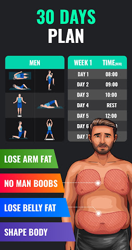 Lose Weight App for Men - Weight Loss in 30 Days screenshot 3