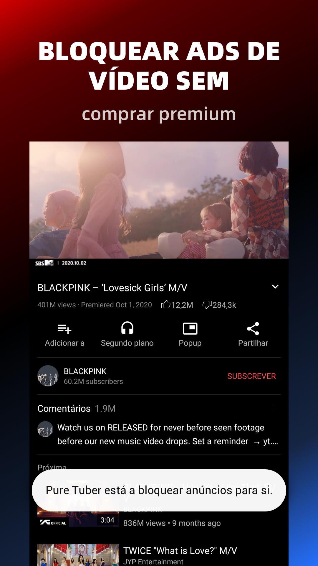 Pure Tuber- Ads de vídeo em bloco, Prêmio Gratuito screenshot 2