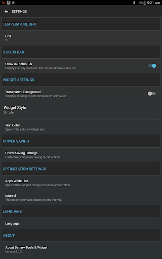 Battery Tools & Widget for Android (Battery Saver) screenshot 13