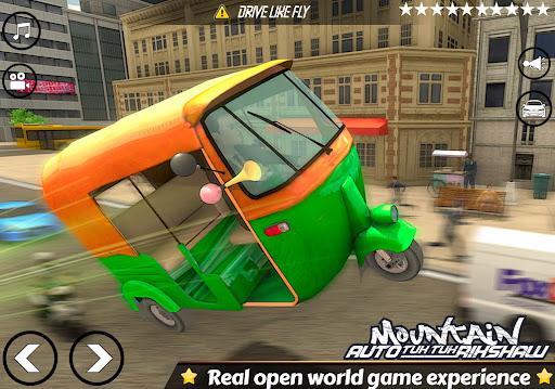Mountain Auto Tuk Tuk Rickshaw:新しいゲーム2021 screenshot 9