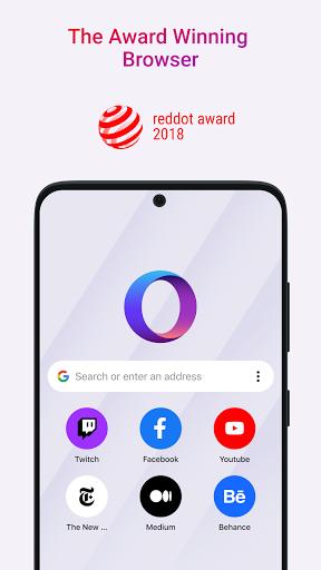 Opera Touch: fast, new & modern web browser screenshot 1