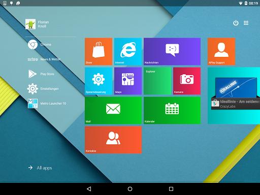 Metro UI Launcher 10 screenshot 7