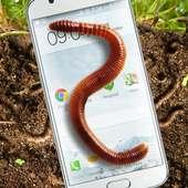 Earthworm in phone slimy joke on APKTom