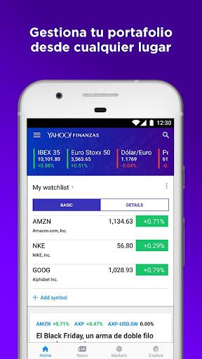 Yahoo Finanzas screenshot 3